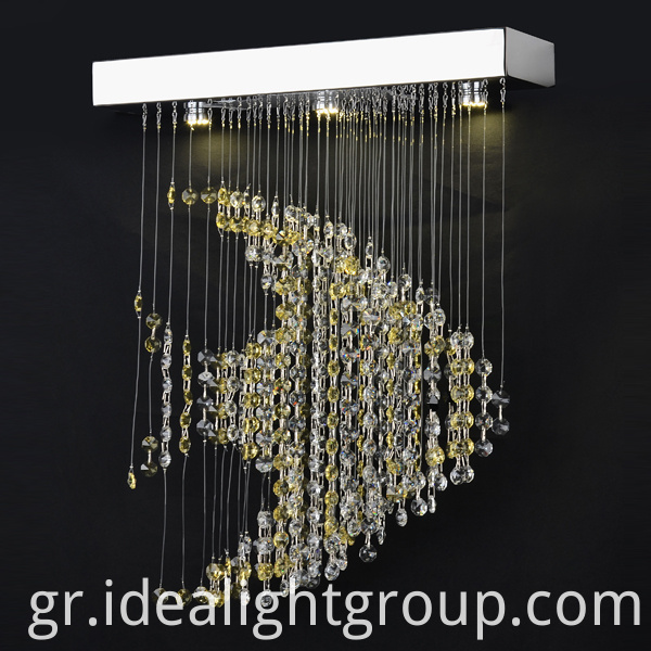 modern purple chandelier