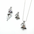 Bricolaje Metal Lockets Charms Christmas Hat Necklace