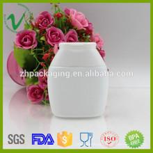 HDPE OEM branco personalizado garrafas plásticas de bolo bucal com tampa de tampa