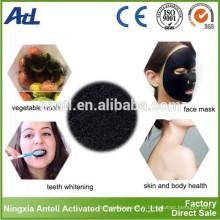 Poudre de charbon actif organique insipide lumineux de dents pour le blanchiment des dents