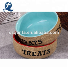 Personalisierte umweltfreundliche benutzerdefinierte Katzenhundefutter Keramik Pet Bowl