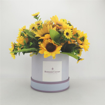 Cylinder Wedding Flower Packaging Gift Box