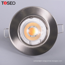 Die casting aluminium ceiling light cover round GU10 GU5.3 down light housing fixture