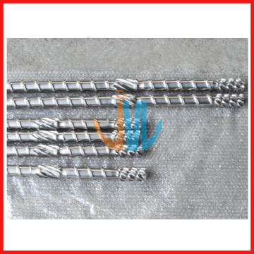 Extruder screw and barrel for film blowing machine