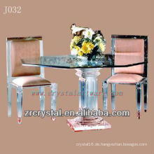 K9 Transparenter Kristalltisch und Stuhl