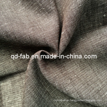 Cotton Linen Yarn Dyed Fabric (QF13-0739)