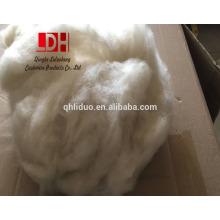 21 mic o melhor eco amigável lã de ovelha em bruto natural Fibras de caxemira brancas para fios de camisola