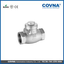 Válvula de retención roscada BSP rosca CF8 con el mejor precio