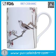 Taza de té de cerámica de la pintura roja japonesa del Mauple