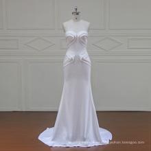 XFM035 especiales crepe barato perla vestidos de novia de la tarde 2017