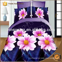 Top quality home bed line 3d bedding set polyester bedding set