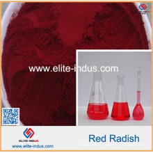 Cor do rabanete cor vermelha natural