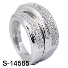 Белые серебряные украшения с обручальным кольцом (S-14565. JPG)
