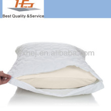 Wholesale polycotton quilted pillow protector with zipper