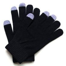 Homens moda cashmere de malha de tela de toque luvas quentes (yky5460)