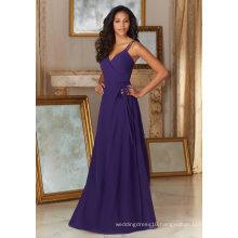 Spaghetti Purple Chiffon Evening Party Prom Cocktail Bridesmaid Dresses