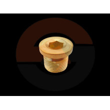 Brass round head Allen Key Stop Plug