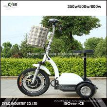 Scooter à mobilité électrique 36V / 48V 500W 3 roues