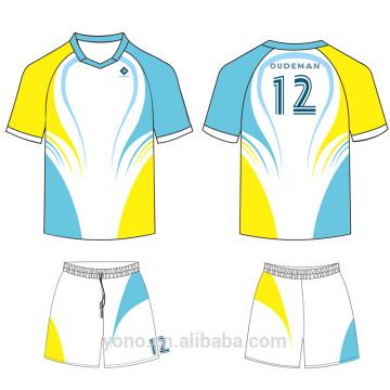 OEM \ ODM service 100% de haute qualité nouveau style professionnel complet maillot de football de sublimation pour la formation et match