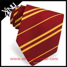 Streifen-rote gelbe Mann-Krawatte