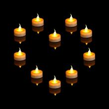 Lilin tealight LED mini dekoratif Natal