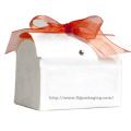 Embalagem personalizada Caixa de papel redonda com fita
