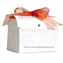 Пользовательская упаковка круглой бумажной коробки с лентой