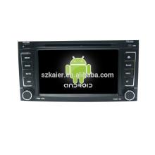 Quad core voiture lecteur dvd android pour voiture, wifi, BT, lien miroir, DVR, SWC pour VW OLD TOUAREG