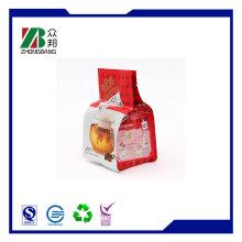 Мешок для упаковки кофе с теплооткрывателем сбоку, 4 боковых уплотнения