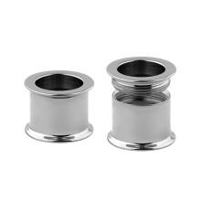 High Polishment Titanium Internally Threaded Double Flared Ear Gauges Tunnel Piercing
