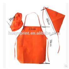 O avental da criança feito, avental descartável do terno do hotel do jardim de infância, anti óleo impermeável pode ser LOGO impresso