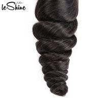 El paquete brasileño del pelo de la onda floja de larga duración 9A relajado de 18 pulgadas con la cutícula del closing alineó