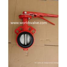 Válvula Borboleta Wafer 150lb na cor vermelha