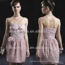 E0004 Sequins Cocktail Robe de soirée / Shinning Short Party Dress Robe de mariée