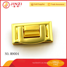 Cerradura brillante del bolso del metal de la manera del color del oro