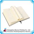Libro popular del diario de la tela popular de la venta caliente con la marca de la cinta