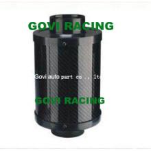 Elemento de filtro de ar de carbono real com filtro de ar universal Mormingcycle de 76mm