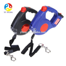 Retractable Dog Pet Leashes with Light and Waste Bag Holder Dispenser