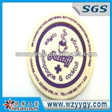 2013 Hot Sell Round Shaped Soft PVC/Soft Rubber Coaster with LOGO