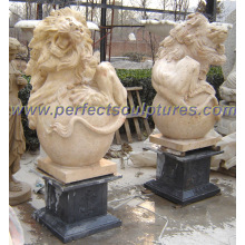 Garden Stone Granite Marble Lion Sculpture for Animal Statue (SY-D065)