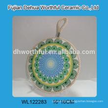 Estera de cerámica caliente del pote caliente, sostenedor de cerámica del pote con el patrón especial