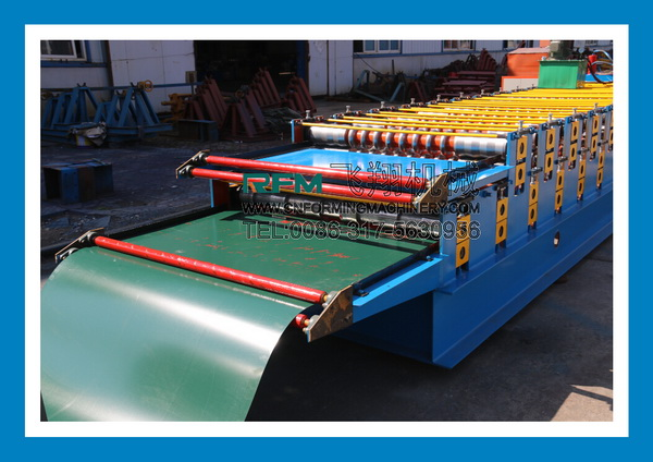 Double layer aluminium profile making machine