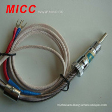 MICC small screw type thermocouple with metal-shielded wire