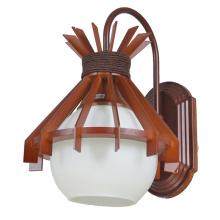 Lámpara de pared Lámpara de pared de pantalla de madera interior