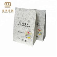 Eco-Содружественный Изготовленный На Заказ Бисквит Еды Заедк Бумаги Брайна Kraft Упаковывая Мешок Для Тортов И Печенья