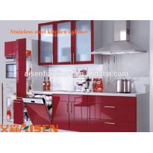 Armoire de cuisine en acier inoxydable sus 304 de qualité supérieure avec design coloré