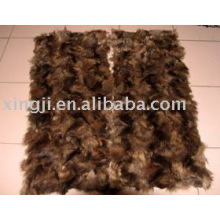raccoon dog front leg fur plate