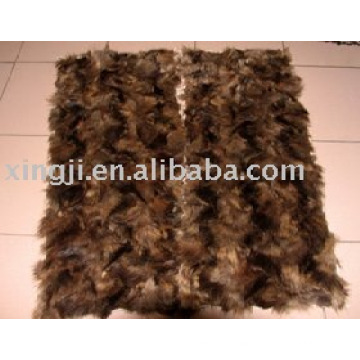 raccoon dog front leg fur plate