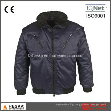 Mens 3 in 1 Detachable Sleeve Workwear Pilot Jacket Winter Bomber Jacket