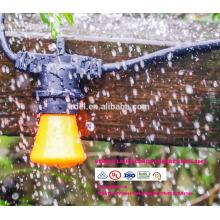Comercial a prueba de intemperie SLT700 a prueba de intemperie patio al aire libre cuerdas enciende la bombilla G60, negro, 48 '